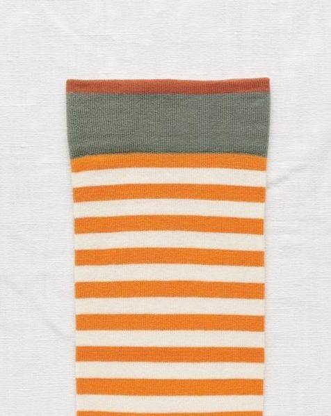 BONNE MAISON // Orange stripe socks - Loja Real