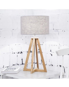 TABLE LAMP // Everest light grey linen
