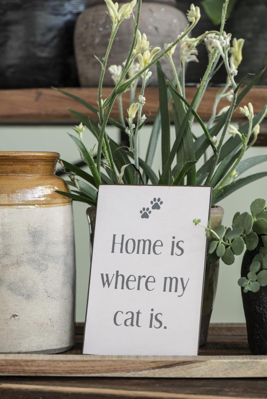 DECOR SIGN // Home is where my cat is - Loja Real