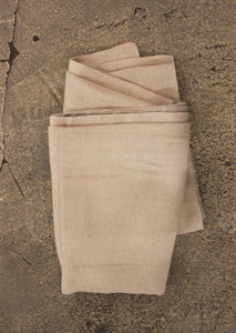 BLANKET // Cotton & Wool grey double sided - Loja Real