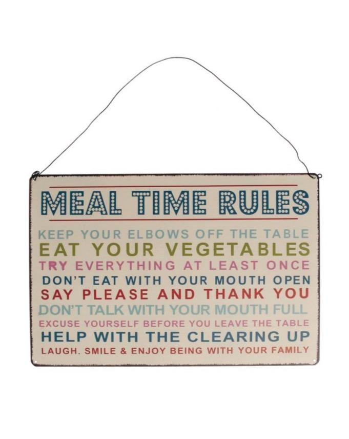 DECOR SIGN // Meal Time Rules - Loja Real