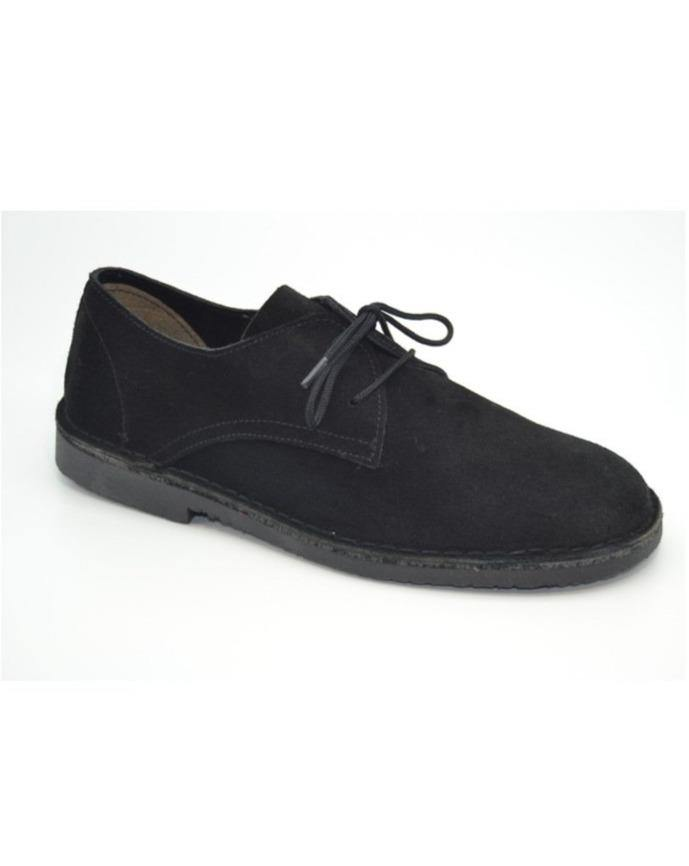 SAFARI SHOES // Black suede - Loja Real
