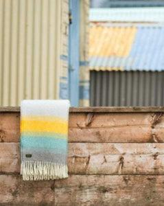 TWEEDMILL // Ombre Tidal yellow wool throw