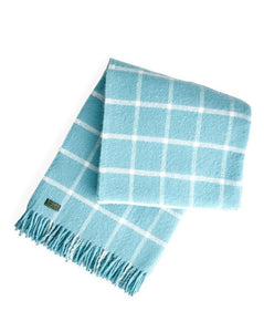 TWEEDMILL // Checkered wool blue throw