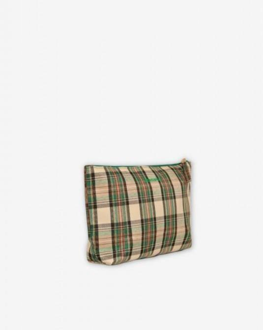 BENSIMON // Green checkered zipped pocket - Loja Real
