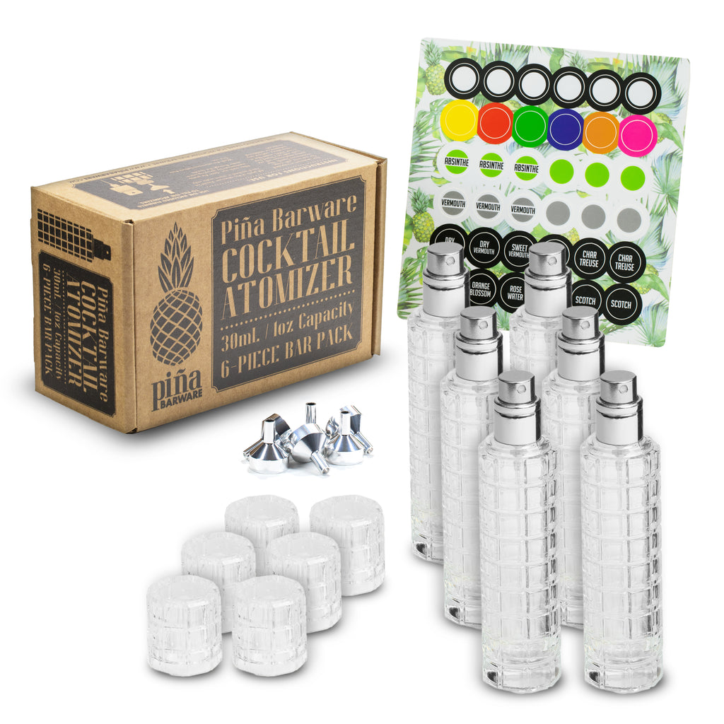 Glass Cocktail Atomizer, 6-Pack Commercial Bar Pack