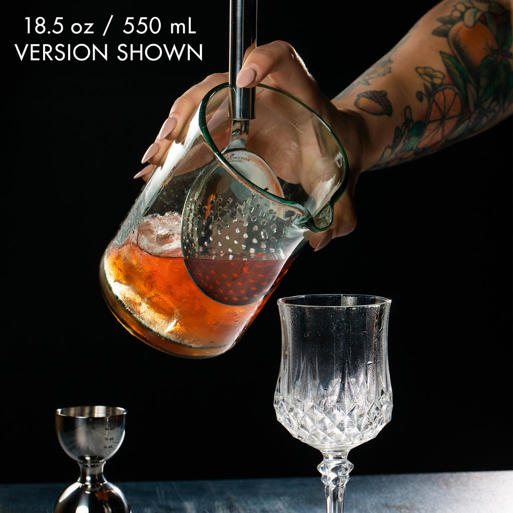Handblown Recycled Cocktail Mixing Glass - 550mL / 18oz