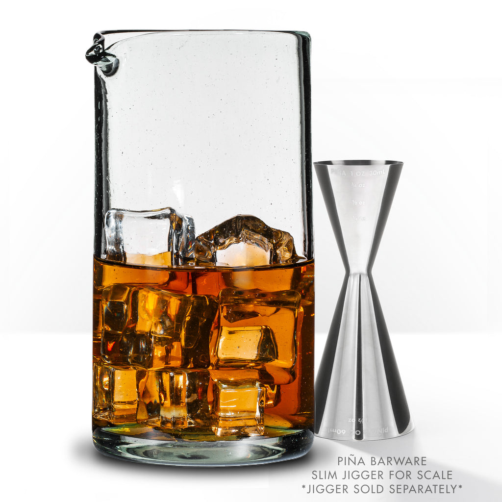 Handblown Recycled Cocktail Mixing Glass - 750mL / 26oz