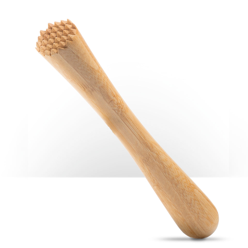 "Bamboo Muddler - 10"" / 25cm Toothed"