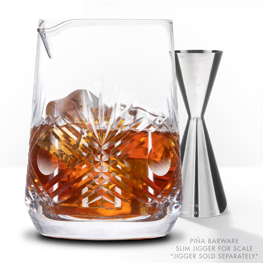 Seamless Hand Cut Mixing Glass - 700mL / 24oz