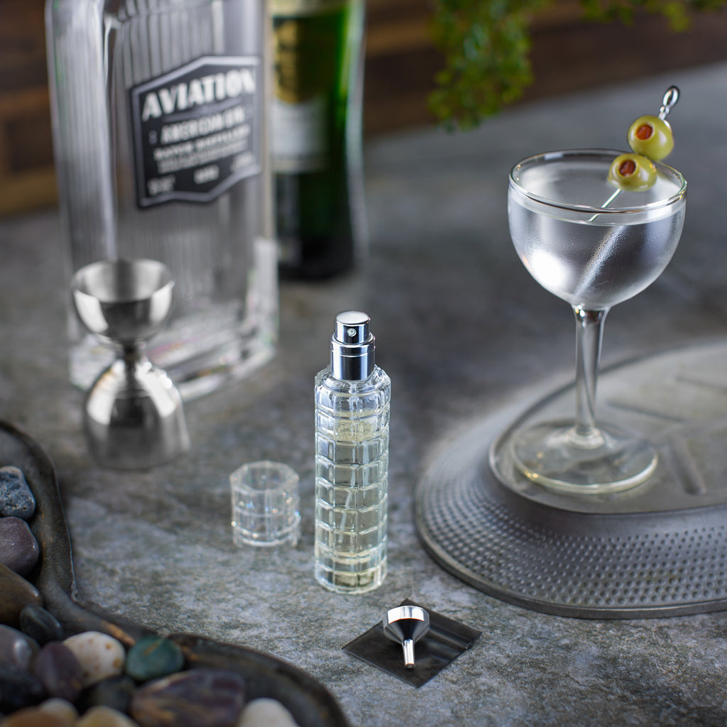 Glass Cocktail & Martini Atomizer, Silver