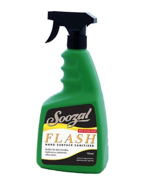 Flash - hard surface sanitiser for office furniture, door handles, keyboards, laptops and printers.