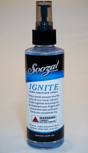 Ignite - Hand Sanitising Spray - 250ml - Soozal