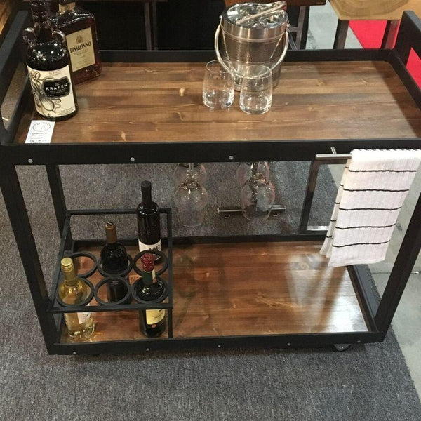 Wood And Metal Westminster Bar Cart