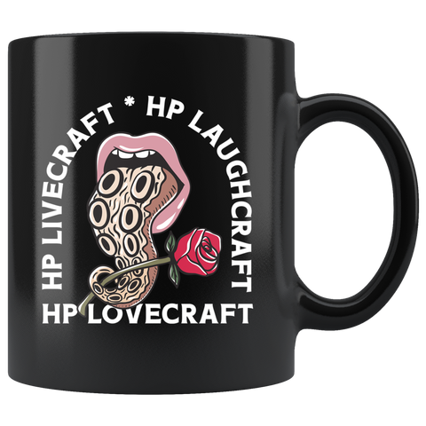 Livecraft, Laughcraft, Lovecraft Mug - Weird Vibes Worldwide