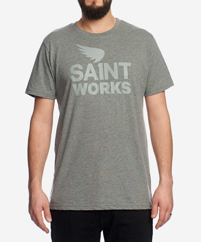 Saint Works Logo Tee - Charcoal Marle
