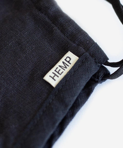 SA1NT Hemp Triple Layer Mask - Black