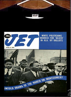 Reverend Dr Martin Luther King Jr shirt; MLK JR Jet Magazine T shirt