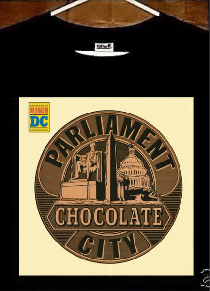 Parliament T shirt; Parliament CHOCOLATE CITY Tee shirt