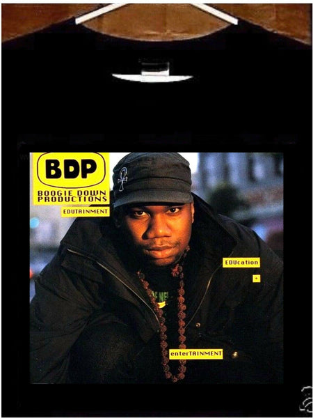 KRS ONE T shirt; KRS ONE Boogie Down Productions BDP Edutainment Tee Shirt