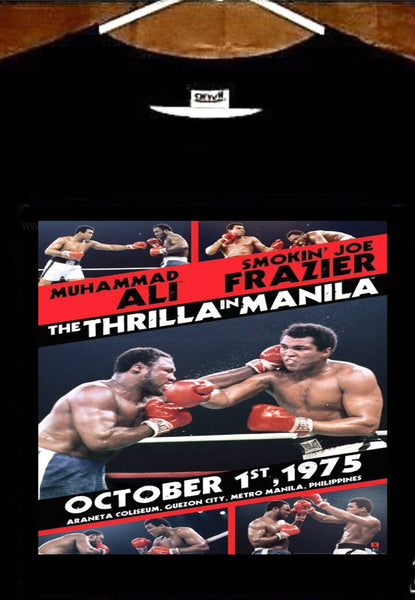 The Thrilla In Manila T shirt; Muhammad Ali vs Joe Frazier T shirt
