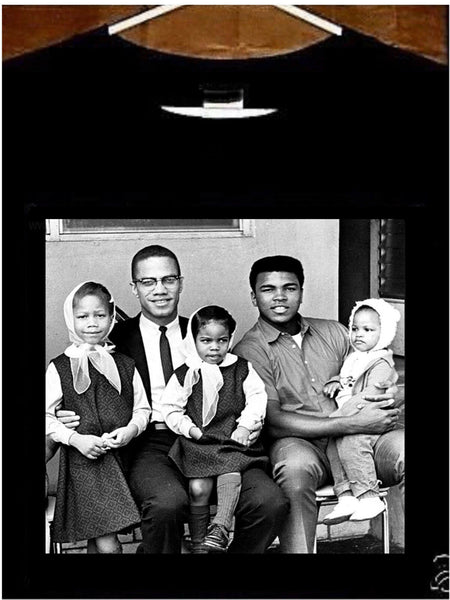 Muhammad Ali T shirt; Young Muhammad Ali Young Malcom X with Kids Tee Shirt