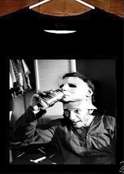 Michael Myers T shirt; Nick Castle Michael Myers Drinking Dr Pepper Tee Shirt