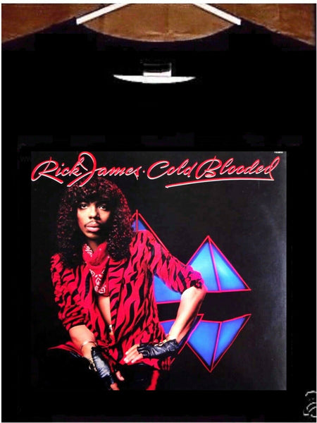 Rick James T shirt; Rick James Cold Blooded Tee Shirt