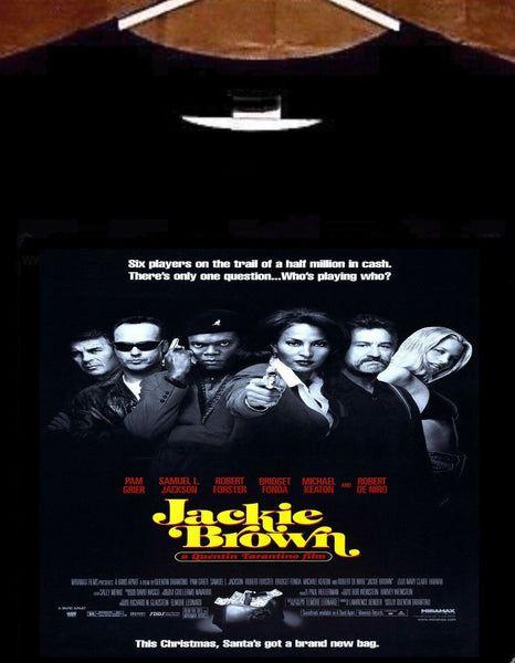 Jackie Brown T Shirt; Jackie Brown Movie Poster Tee Shirt