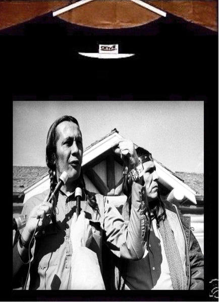 Russell Means T shirt; AIM 1973 Wounded Knee Russell Means Tee shirt