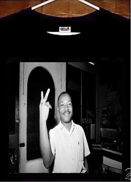 Martin Luther King Jr T shirt; Martin Luther King Jr Peace Sign Tee Shirt