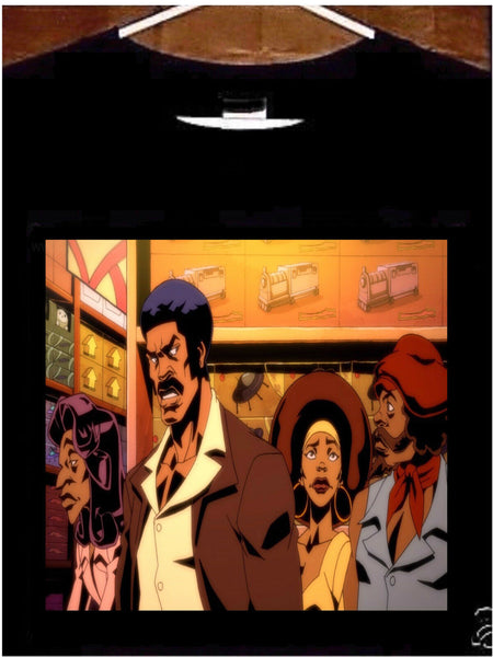 Black Dynamite T Shirt; Black Dynamite Cartoon Tee Shirt