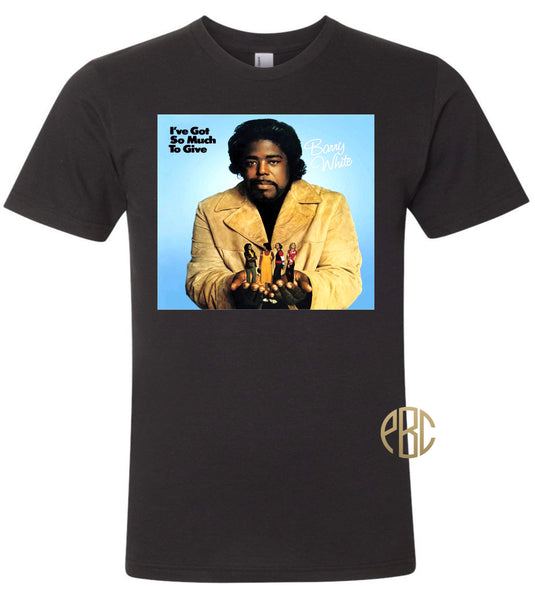 Barry White T Shirt, Barry White I've Got So Much Love to Give A;bum Cover Tee Shirt