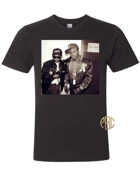 Eazy E T Shirt; Eazy E with Too Shirt Tee Shirt