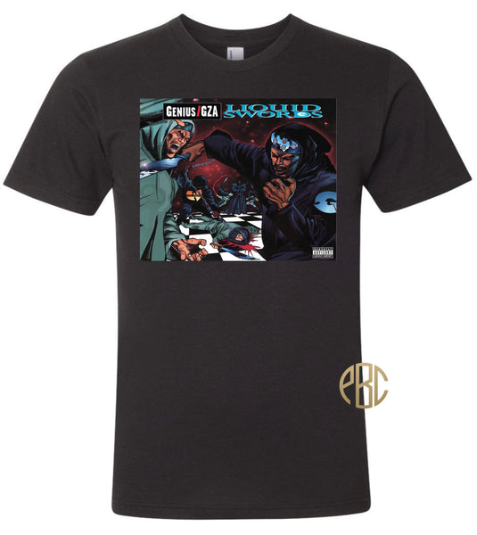 Genius GZA T Shirt, Genius GZA Liquid Swords T Shirt