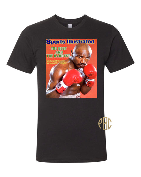 Marvin Hagler T shirt; Marvin Hagler Sports Illustrated T Shirt