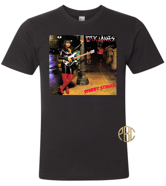 Rick James T Shirt, Rick James Street Songs Album Cover T Shirt