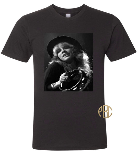 Stevie Nicks T Shirt, Young Stevie Nicks Tambourine T shirt