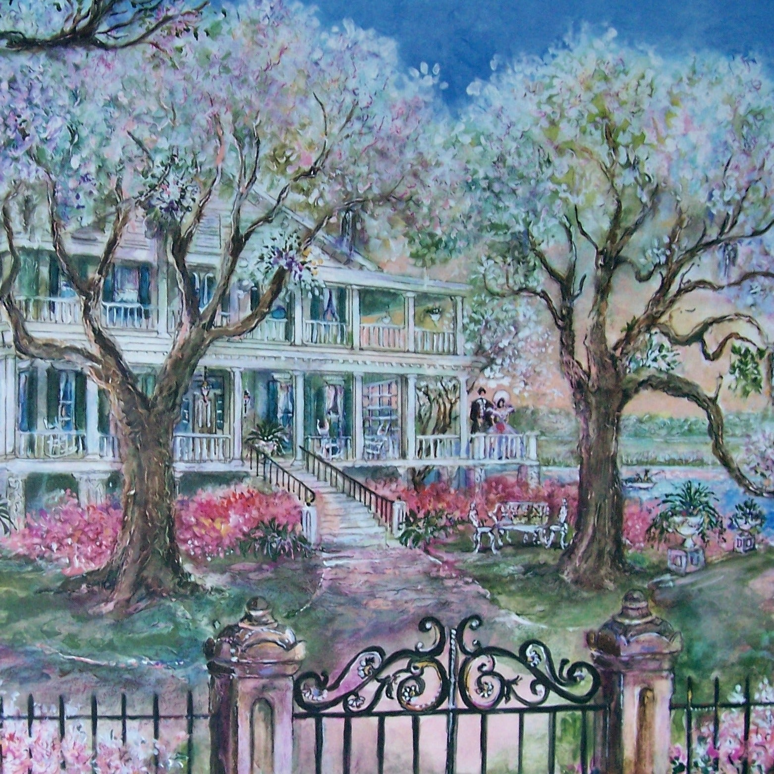 The Edgar Fripp Home painting by Sharon Saseen