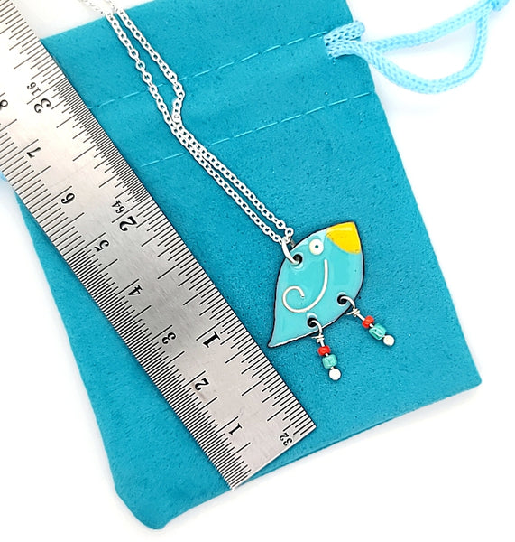 whimsical bird necklace