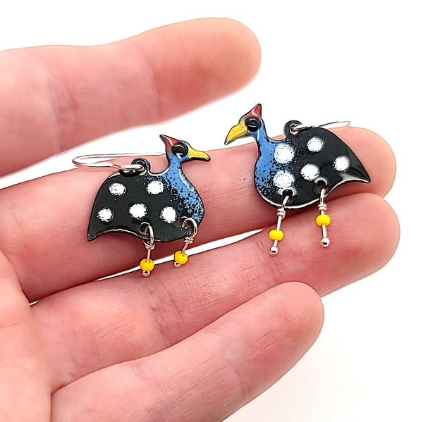 guinea bird earrings