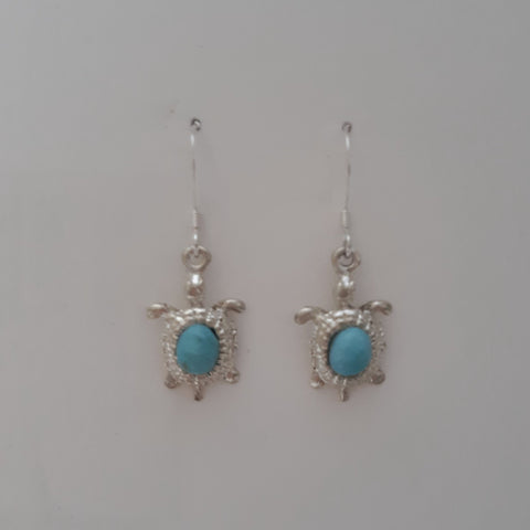 Larimar Turtle Earrings