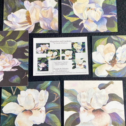 Magnolias & Gardenia, Botanicals, Still Life & More Notecards