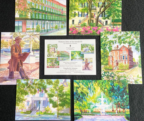 Historic Inns of Savannah Notecards  II, and III