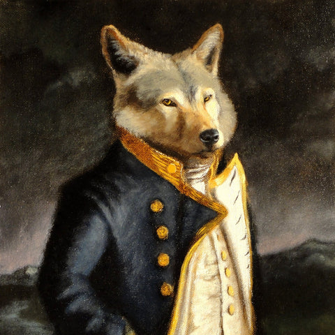 """A Gentleman of Merit"" - wolf print"