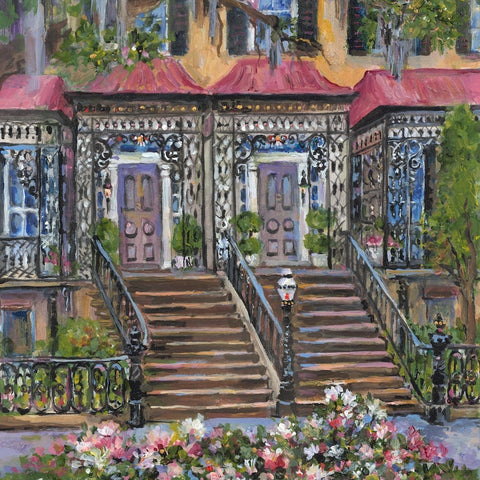 painting of historic Savannah Roger's House