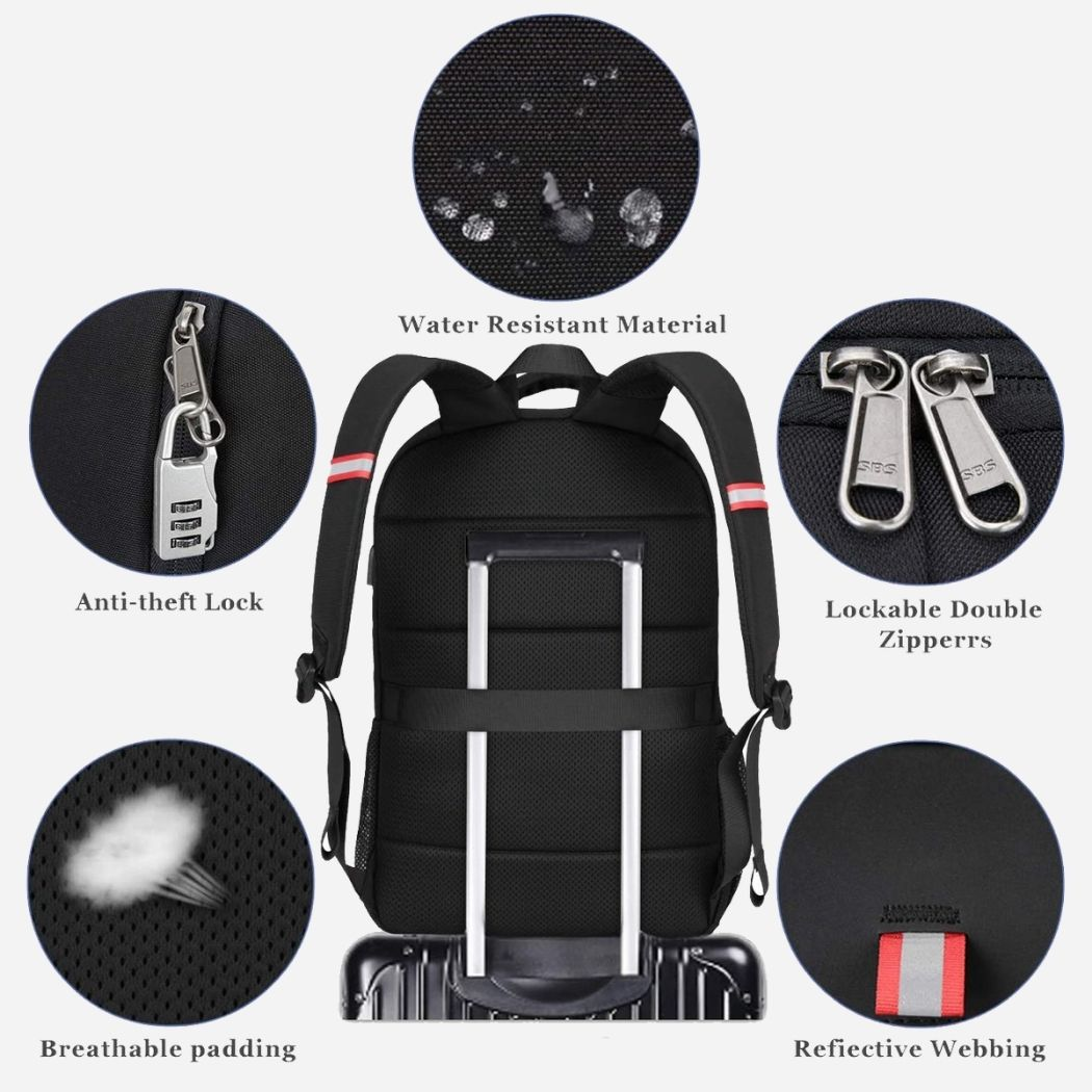 Multifunctional business backpack for men