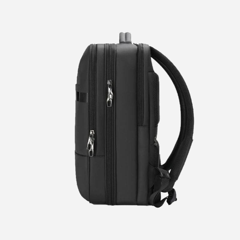black backpack for business travelers