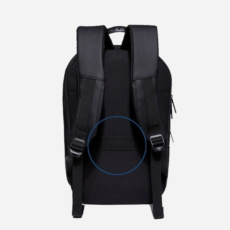 Breathable back laptop backpack for businessmen