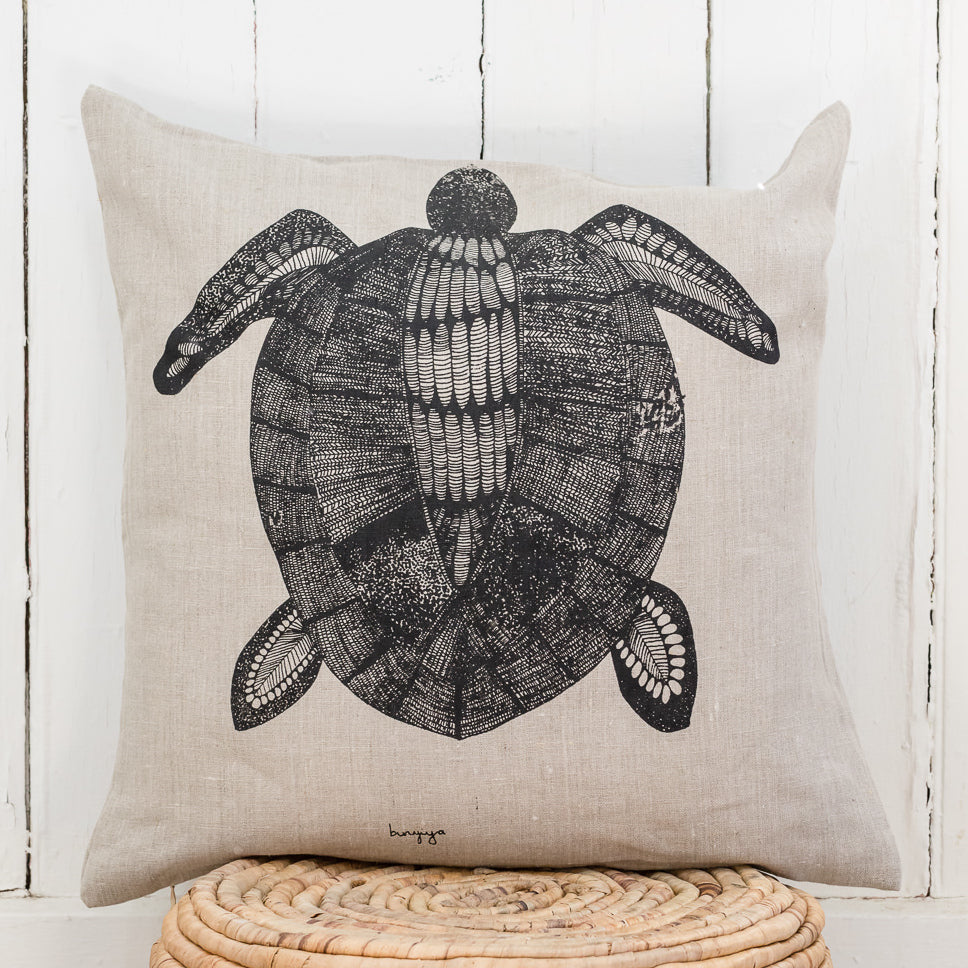 Bunbiya - Handprinted Linen Cushion Cover